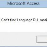 Can't find Language DLL msain.dll