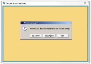 Adressverwaltung mit Wiedervorlage Funktion