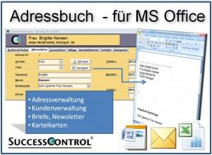 Adressbuch und Kundenkartei mit Excel Listen und Outlook Schnittstelle