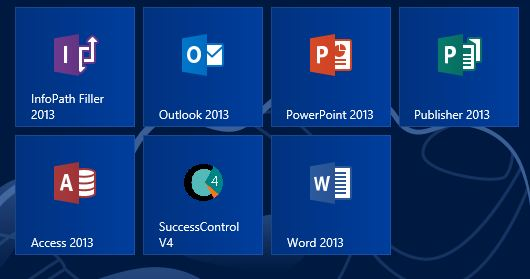 SuccessControl - Windows 8 und Office 2013 Ansicht