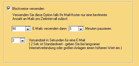 Newsletter blockweise mit Outlook versenden