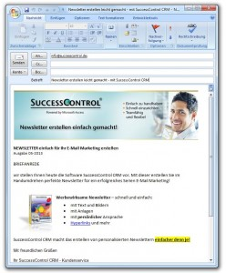 Newsletter Outlook Vorlage Muster
