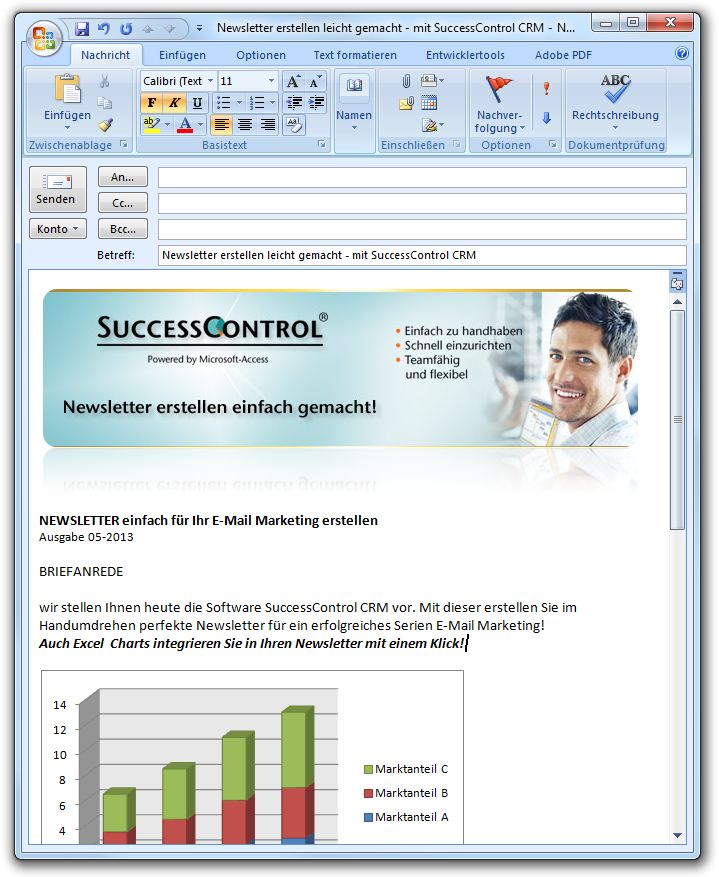 Outlook Newsletter Template Vorlage Muster