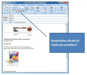 newsletter in outlook