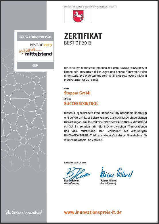 Kundenverwaltungssoftware CRM 2013