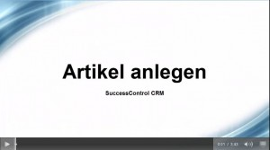Video: Artikel anlegen