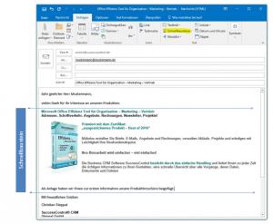 Outlook Schnellbausteine verwenden