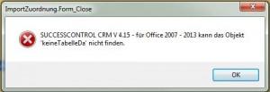 Access Runtime Fehler
