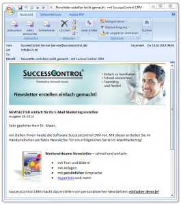 SuccessControl Newsletter