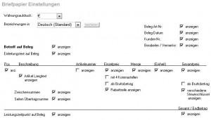 Briefpapier Vorgaben individuell im Rechnungs-Programm einstellen