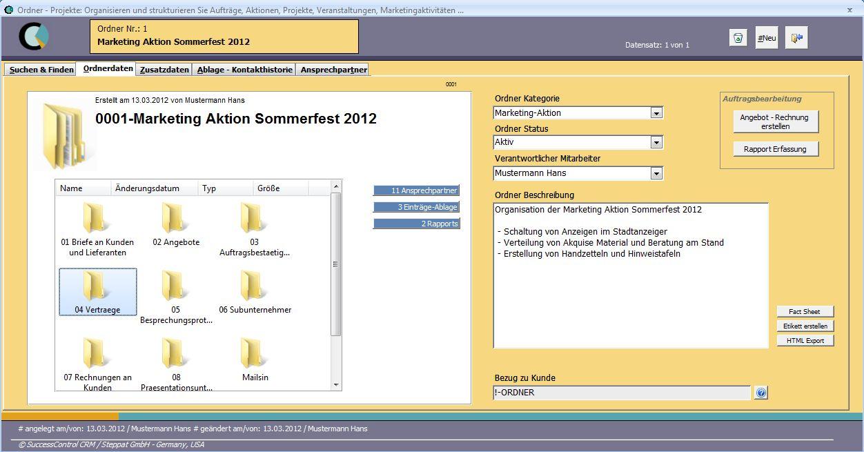 projektmanagement software einfach aber effektiv - Beispiel Ordnerstruktur Unternehmen