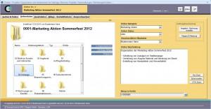 Projektverwaltung Software - das Ordner Modul von SuccessControl CRM