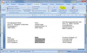 Adressetiketten erstellen Schritt drei - in Word ausdrucken