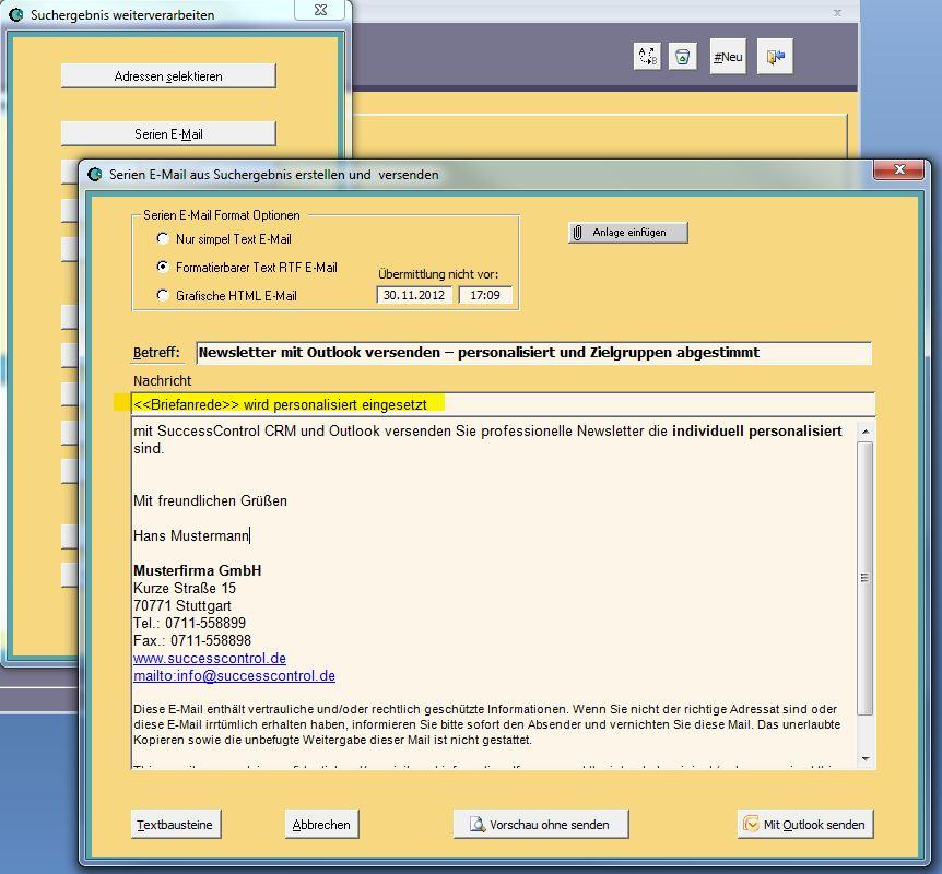 Kundenverwaltung Successcontrol Rechnungsprogramm Mit Crm