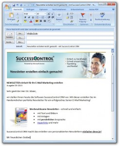 Mit Outlook einen Newsletter verschicken