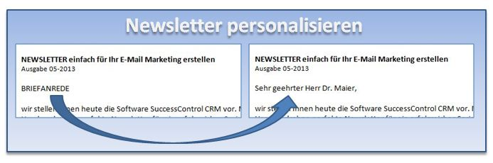 Newsletter mit Outlook personalisieren
