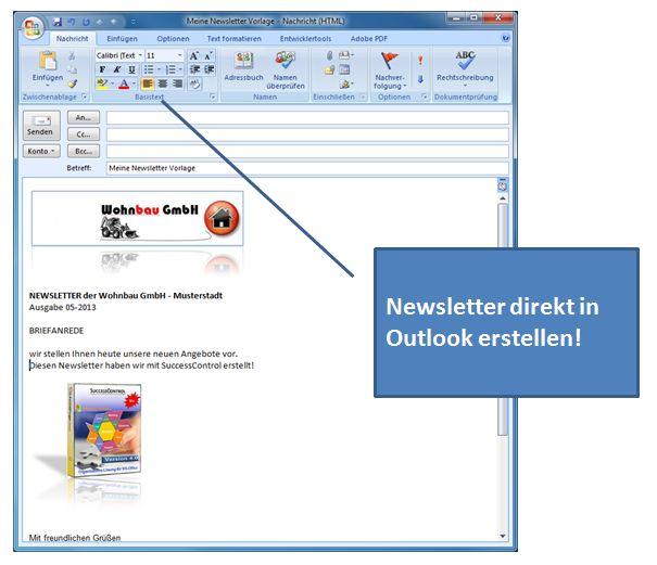 newsletter software newsletter mit outlook versendencrm
