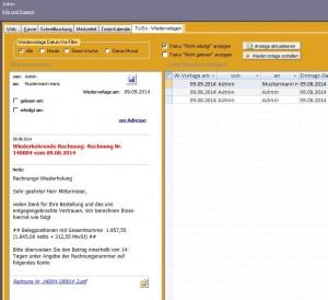 CRM Wiedervorlage System