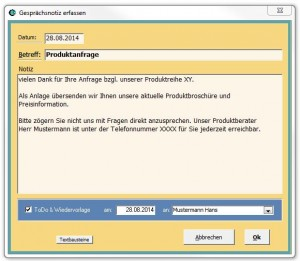 Einfach zu verstehen - Vertriebssoftware mit Wiedervorlagen