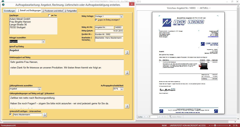 Rechnungsprogramm Successcontrol Rechnungsprogramm Mit Crm