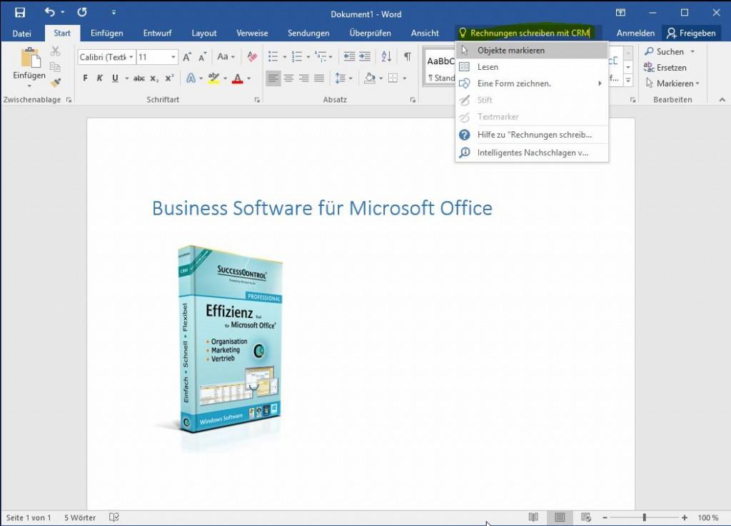 Rechnungen schreiben mit Office 2016
