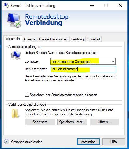 RDP-Verbindung