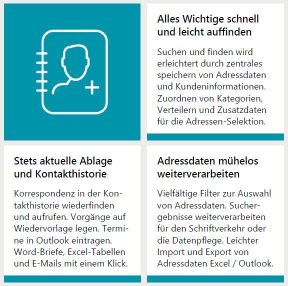 Adressverwaltung Und Kundenverwaltung Der Crm Adressenmanager Mit