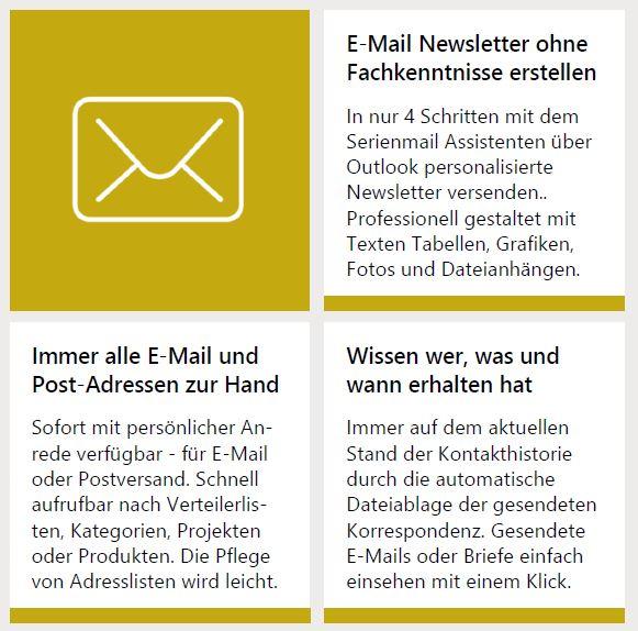 Newsletter und Serienmail erstellen mit Outlook