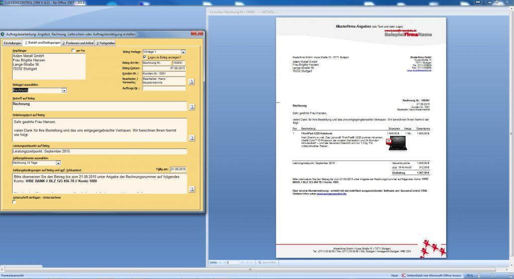 Rechnungsprogramm mit CRM
