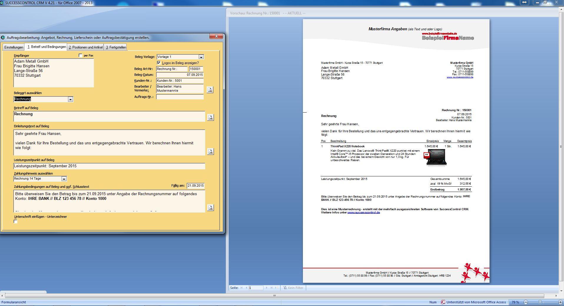 Rechnungsprogramm Für Microsoft Office Clever Einfach Ohne Abo