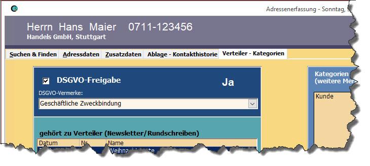 DSGVO-Vermerke in der Kundenverwaltung
