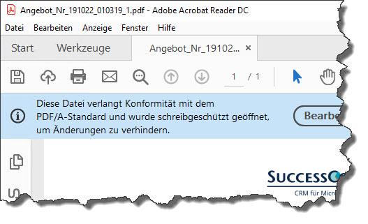 Rechnungen im PDF-A-Format