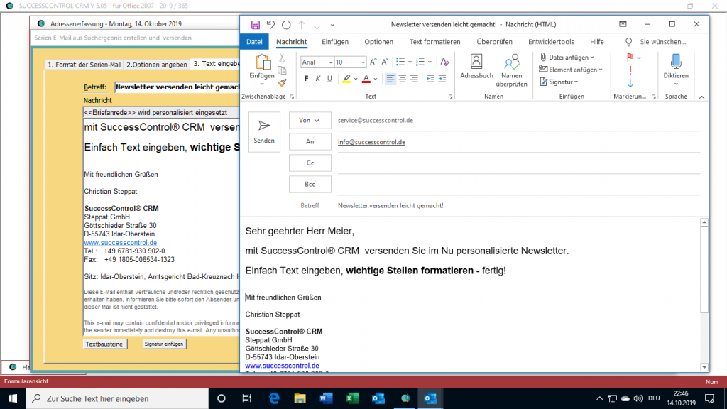 crm tool outlook