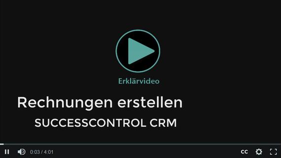 Rechnungen schreiben mit dem Rechnungsprogramm SuccessControl CRM
