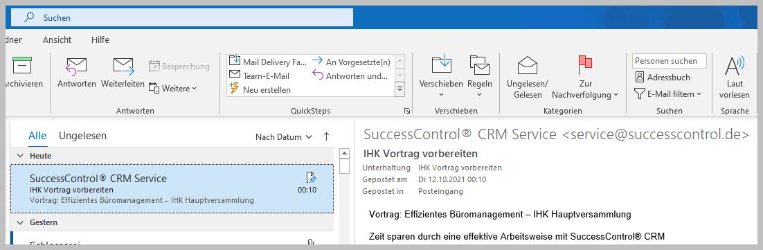 Outlook-Posting-im-Posteingang